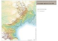 Carte du Languedoc-Roussillon avec le relief