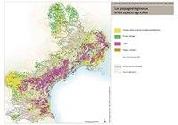 Carte du Languedoc-Roussillon avec le type de culture agricole