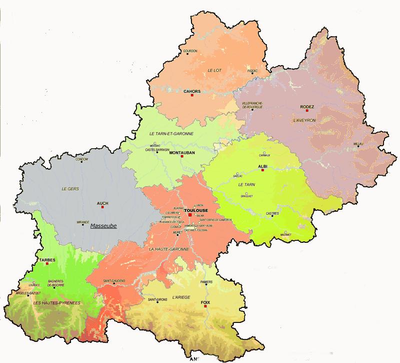 Cartograf.fr : Les Midi-Pyrénées : page 2