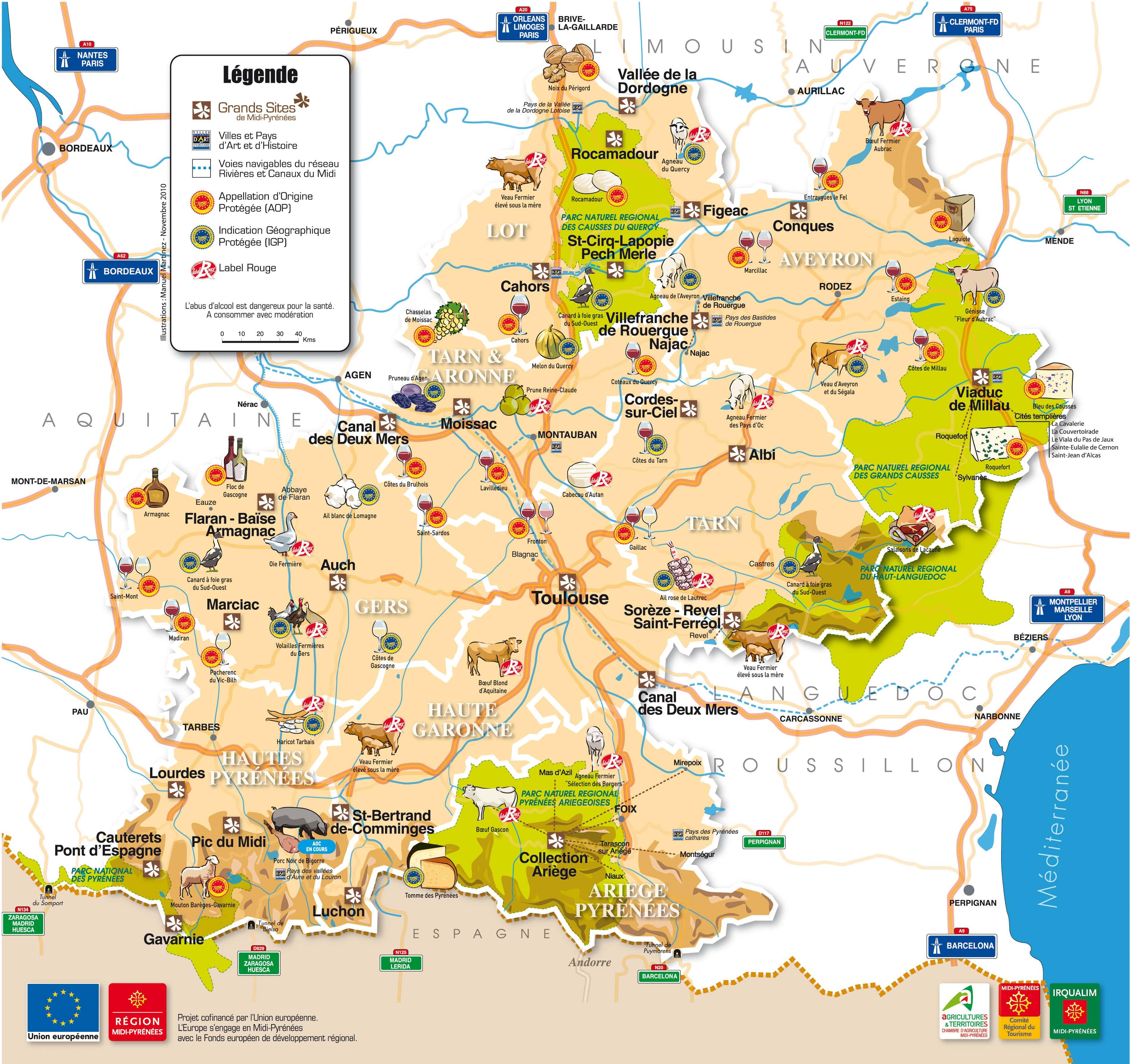 Регион Midi-Pyrénées (Миди-Пиренеи) - достопримечательности, города, что посмотреть, лучшие места, карты, города Франции - путеводитель от FrenchTrip.ru, достопримечательности Франции, France travel guide sights cities best places what to see things to do south France, Rocamadour, Conquesm Autoire, Albi (ЮНЕСКО) Loubressac, Saint-Cirq-Lapopie, Montauban, Тулуза, Auch, Larressingle, Mirepoix, Кафедральный собор в Алби (ЮНЕСКО) Millau Viaduct, Millau Sanctuaires de Lourdes Каньон Ariege, Niaux Lac de Gaube, Cauterets Cirque de Gavarnie, Gavarnie Пещеры Niaux, Tarascon-sur-Ariege Grotte du Pech-Merle, Cabrerets Chateau de Montsegur, Montsegur Abbatiale Sainte-Foy, Conques Зоопарк - Parc Animalier des Pyrenees, Ayzac-Ost Basilique Saint-Sernin, Toulouse Chateau de Cenevieres, Cenevieres Conques Chateau Belcastel, Belcastel Basilique St-Sauveur, Rocamadour Pont Valentre, Cahors