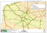 Carte du Nord-Pas-de-Calais avec les autoroutes, les nationales et les départementales