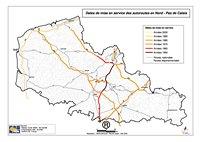 Carte du Nord-Pas-de-Calais avec les autoroutes