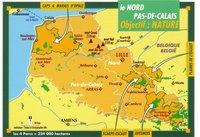 Carte du Nord-Pas-de-Calais avec les parcs naturels
