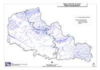Carte du Nord-Pas-de-Calais avec le réseau hydrographique