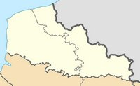 Carte du Nord-Pas-de-Calais vierge
