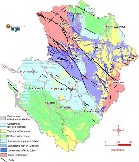 Cartograffr Les Régions De France Le Poitou Charentes