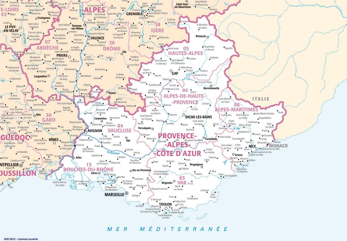 Carte Routiere De La Provence | tonaartsenfotografie