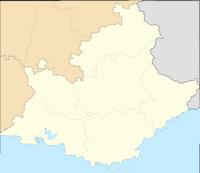 Carte de la Provence-Alpes-Côte d'Azur vierge