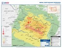 Carte du séisme au Népal précise avec l'épicentre, les répliques et l'intensité