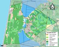 Grande carte de Biscarrosse avec l'occupation des sols