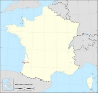Carte de Biscarrosse avec sa localisation en France
