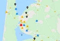 Carte interactive de Biscarrosse avec des informations touristiques