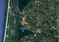 Photo satellite de Biscarrosse