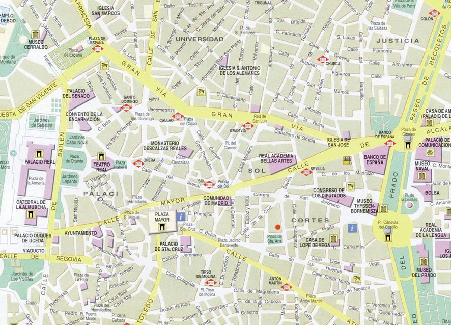 Top Cartograf.fr : Les villes : Madrid RS32