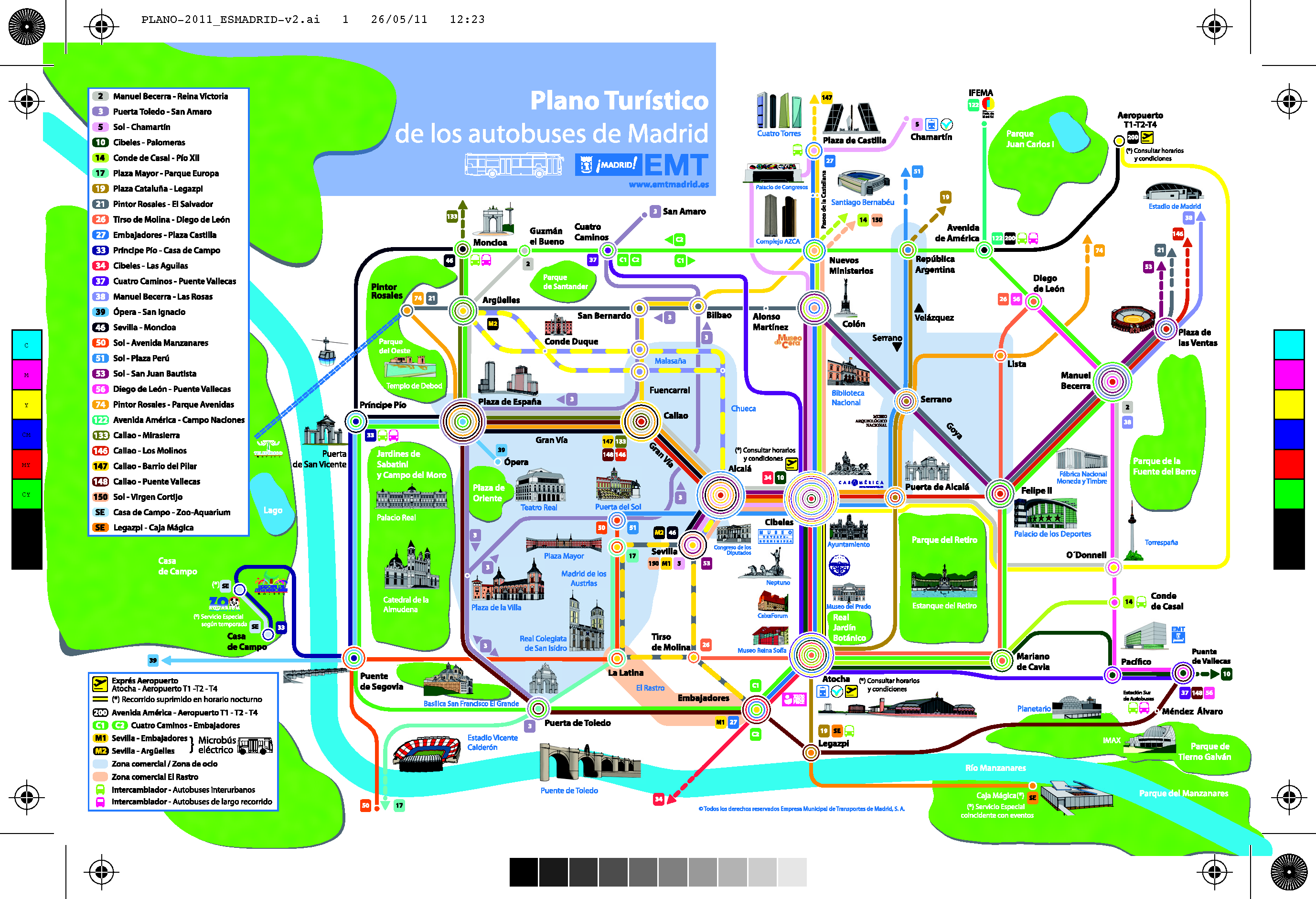 Madrid plan de la ville carte - Office de tourisme madrid ...