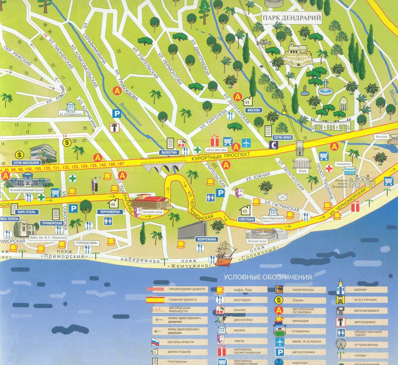 карта города хоста с улицами фото корне переделывать
