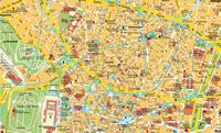 Carte de Madrid centre nord, la capitale de l'Espagne