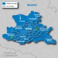Carte Madrid avec les quartiers et l'aéroport