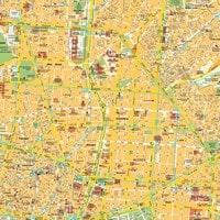 Carte de Madrid du centre avec les grandes rues