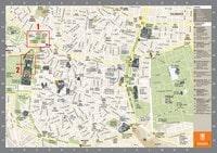 Carte Madrid avec des informations touristiques