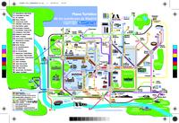 Carte de Madrid avec les lignes de bus touristiques