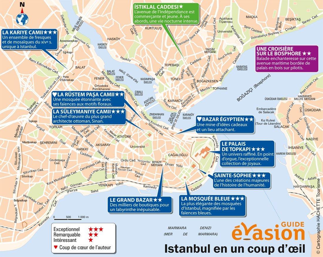 Carte DIstanbul Avec Les Lieux Intressants Visiter Pour Touristes