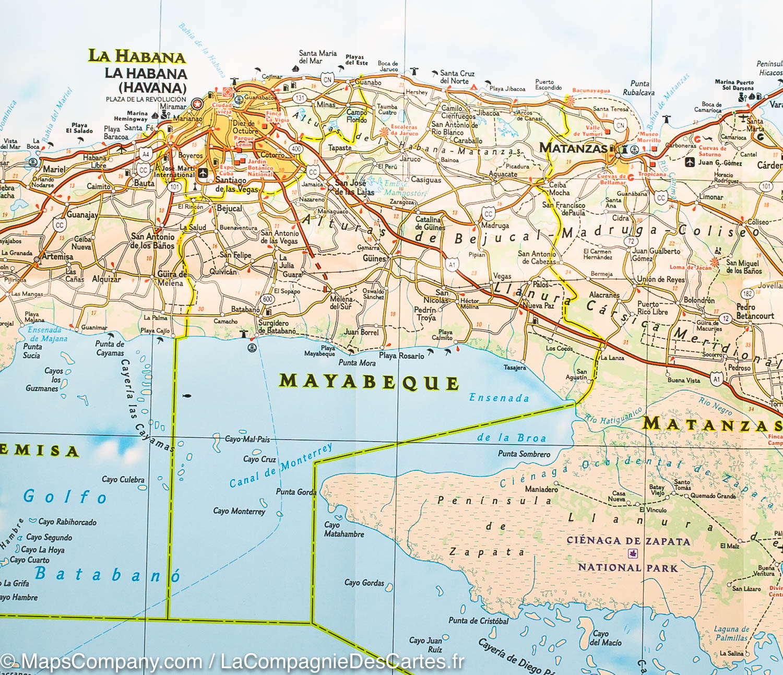 Carte Cuba Detaillee.Cartograf Fr Cuba La Havane