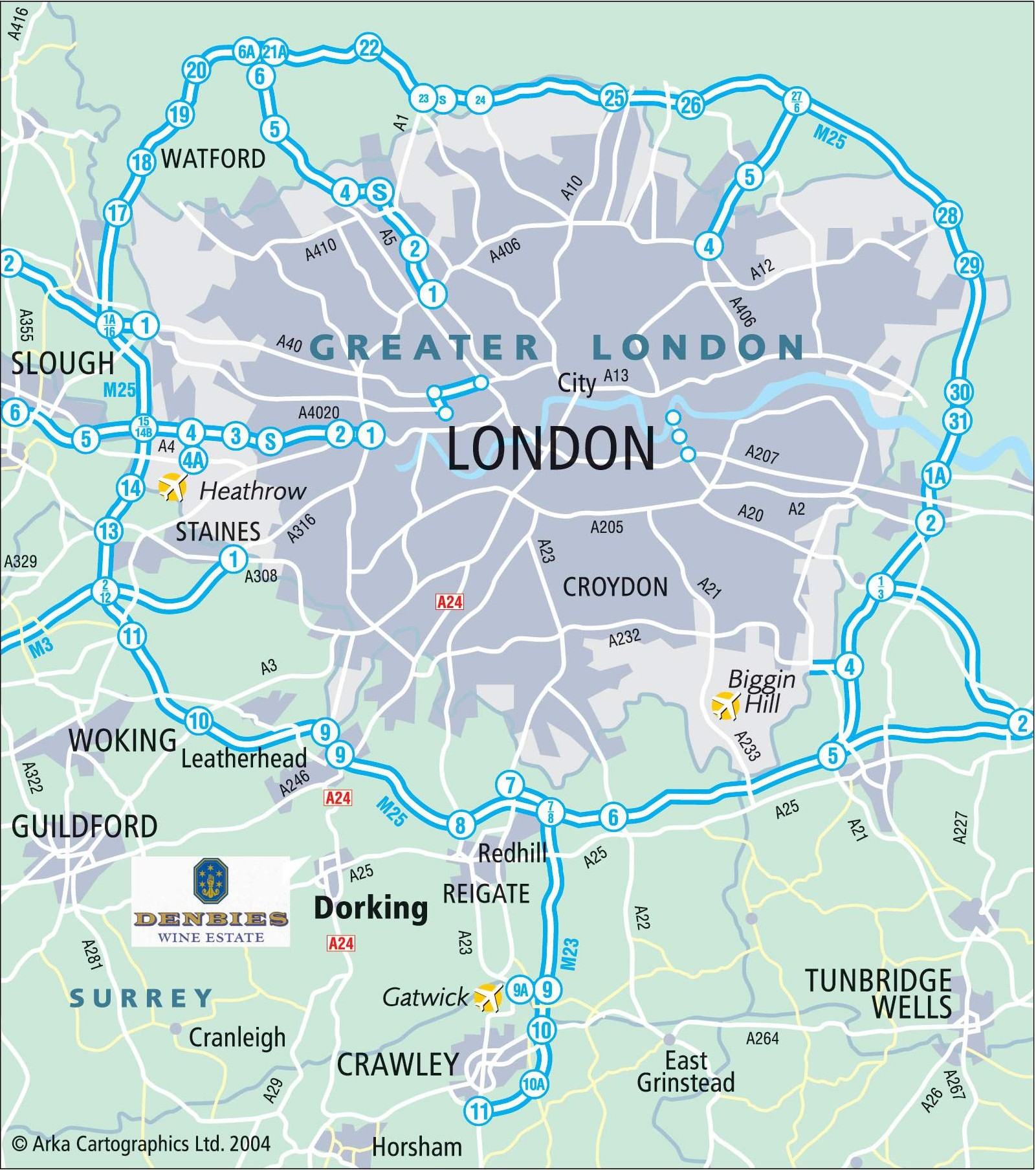 Carte Hotel Londres