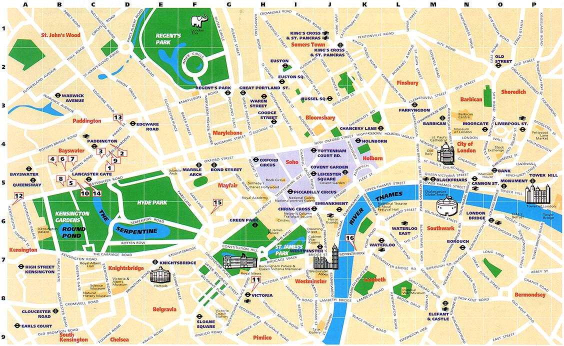 carte touristique de londres - Photo