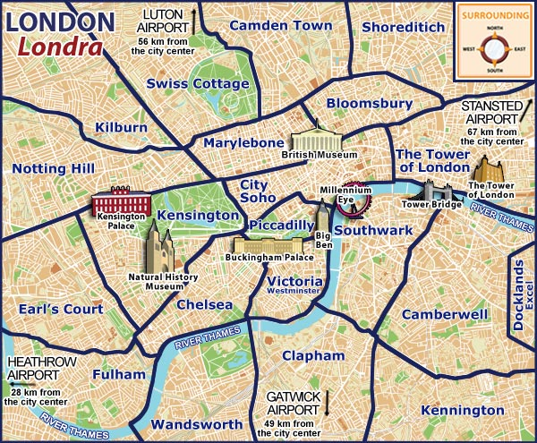 Gut gemocht Cartograf.fr : Carte de Londres : page 2 TK92