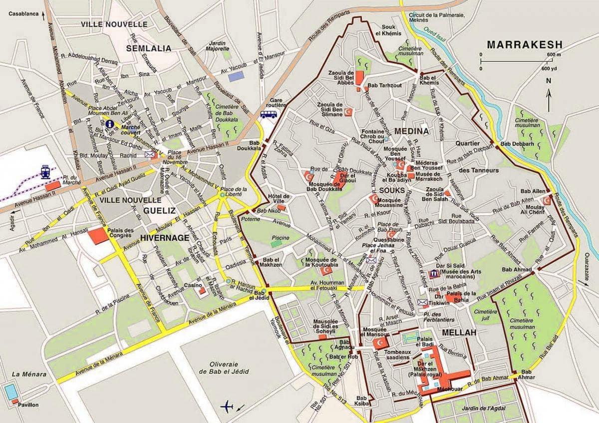 Plan Hotel Marrakech