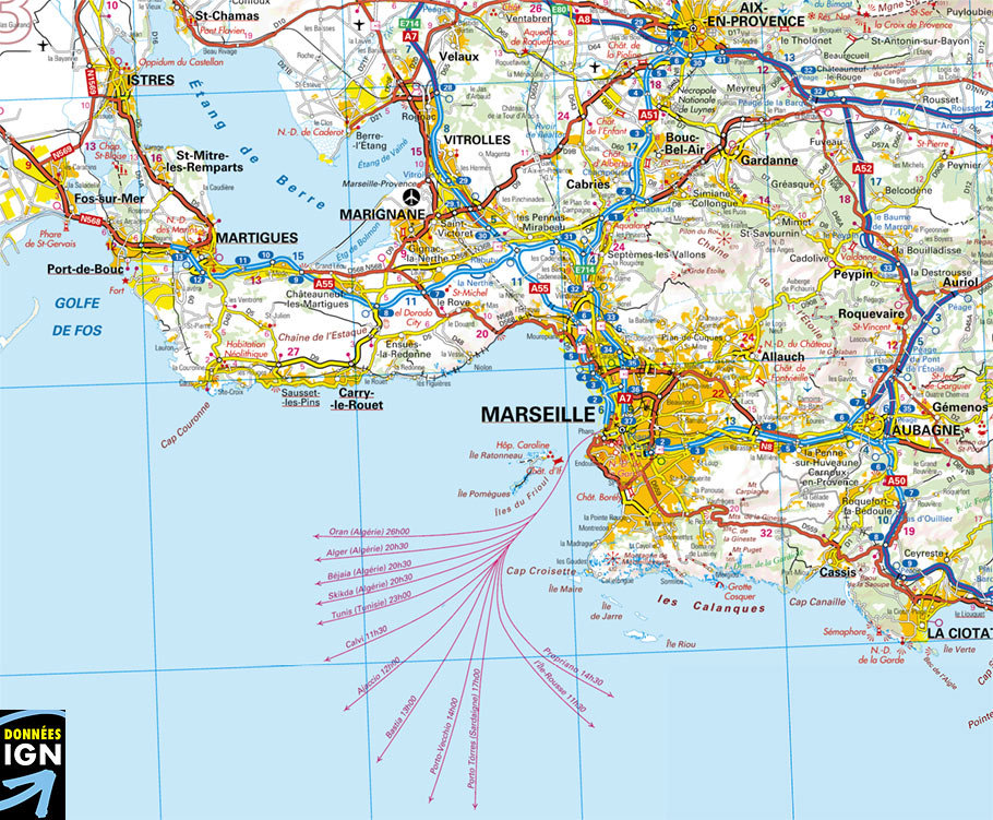 carte marseille et environs Cartograf.fr : Carte de Marseille