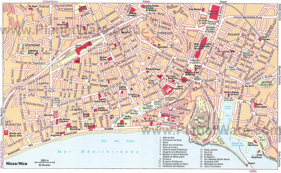Nice  Plan De La Ville