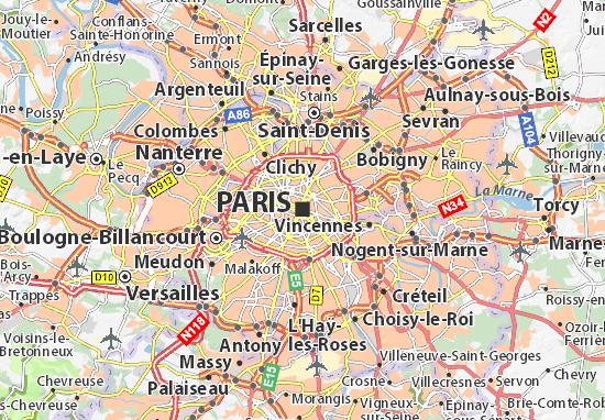 carte de paris et banlieue Cartograf.fr : Carte de Paris : page 2